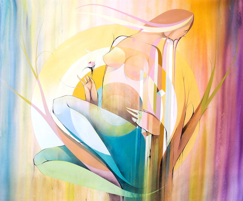 Habitações da doce primavera - Spray on canvas 147 x 186 cm | 2012