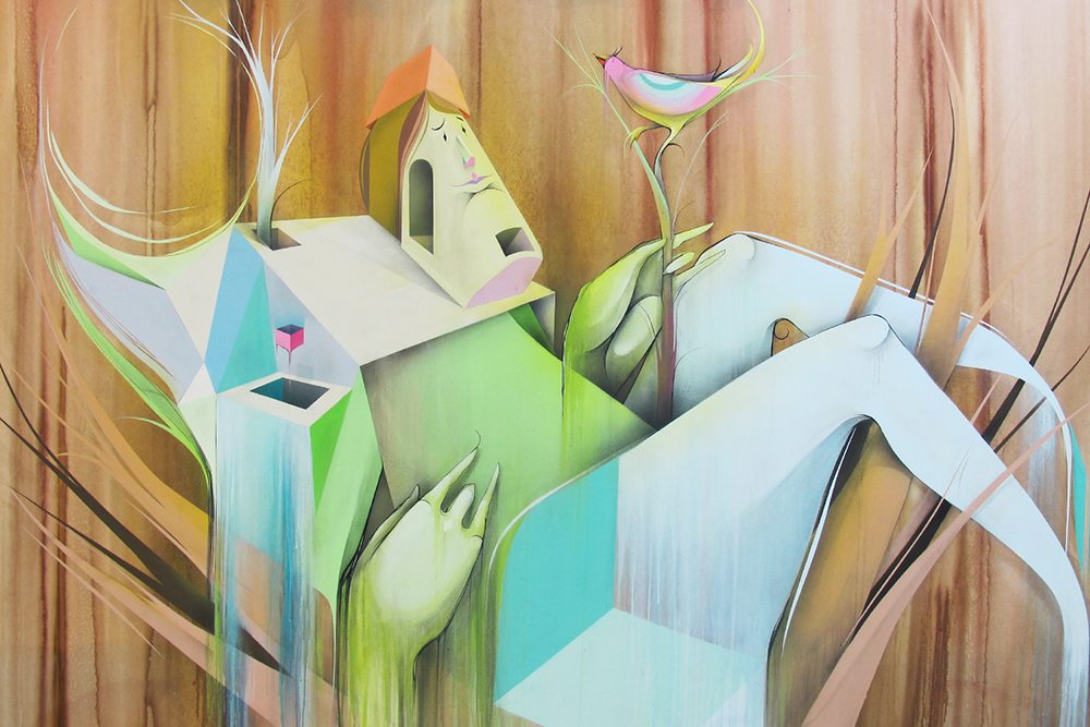 Me refugio em ti - Spray on canvas 156 x 220 cm | 2012
