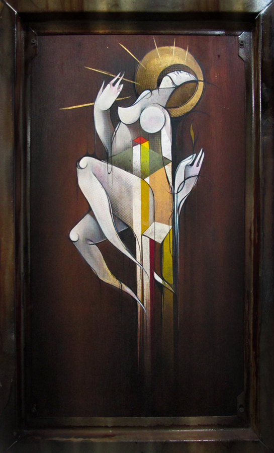 Nada mais antes de mim - Spray and acrylic on wood 51 x 82 cm | 2012
